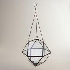 One of my favorite discoveries at WorldMarket.com: Bronze Metal Riley Geometric Hanging Lantern