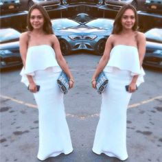 #Regram <3 NYC Gal. // Glamorous @yoli_stylista rocked our #JarloLondon #Lily maxi #dress in white from the latest #HighSummer15 collection ~ she simply killed it!
