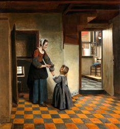 Pieter_de_Hooch_ Питер де Хох, «Мать с дочерью возле амбара», 1658 г., Амстердам