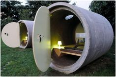 concrete pipe hotel.