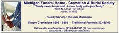 How to save money on a cremation or funeral in Michigan - direct cremation from $625