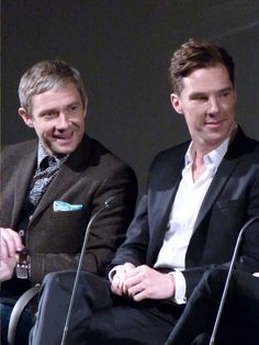 """Martin and Benedict at the BFI screening of """"The Empty Hearse"""""""