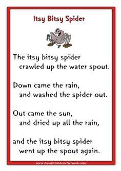 Itsy Bitsy Spider Rhymes and other children's rhymes/songs Kids Rhymes Songs, Songs For Toddlers, Rhymes For Kids, Children Rhymes Songs, Nursery Rhyme Crafts, Nursery Rhymes Lyrics, Nursery Rhymes Preschool, Kindergarten Songs, Preschool Songs