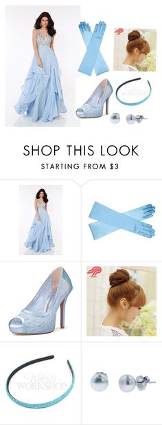 """""""DIY Disney Princesses #6: Cinderella"""" by fionalilylove ❤ liked on Polyvore featuring Mon Cheri, Pin Show and Honora"""