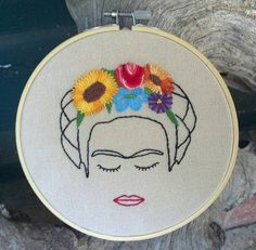 Frida Kahlo Embroidery Art by rwnaturalhealing on Etsy