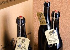 """Etichetta per il Lambrusco """"Rustico"""" di http://vinironzoni.it design by http://up-comunicazione.com  #label #wine #bottle #packaging #design #reggio_emilia #up-comunicazione"""