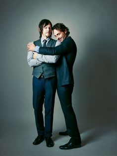 Outtakes from Andrew Lincoln and Norman Reedus cover photo shoot for Atlanta Magazine by John Russo.