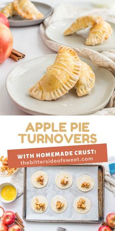 Homemade buttery pie crust filled with a delicious simple apple compote makes these Apple Pie Turnovers a new family favorite!   The Bitter Side of Sweet Apple Pie Dip, Mini Apple Pies, Apple Recipes, Sweet Recipes, Apple Pork Chops, Apple Sausage, Goat Cheese Salad, Fresh Apples, Apple Butter