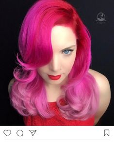 💘 Happy Valentine's Day 💘 Hair by @bottleblonde76 #hotforbeauty . . . . #pinkhair #pinkhaircolor #redhair #brightredhair #colormelt #colormelting #vday #vdayhair #vdaybeauty #valentinesday #valentineday