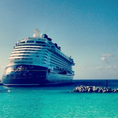 Disney Dream in Castaway Cay, Disney's private island in the Bahamas