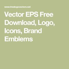 Vector EPS Free Download, Logo, Icons, Brand Emblems