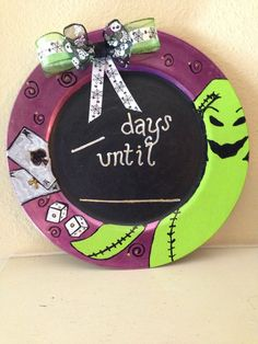 Hey, I found this really awesome Etsy listing at https://www.etsy.com/listing/220529691/oogie-boogie-countdown-chalkboard