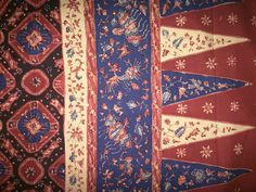 Batik tulis (hand waxed and resist dyed) from Jambi, Sumatra, Indonesia.