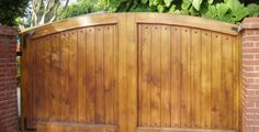 Clean Framed Wooden Gates
