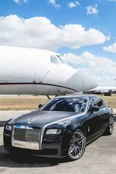 Exquisite Rolls Royce and private jet #luxuryliving