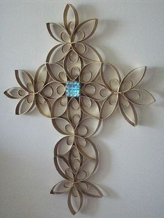 wrought iron look with toilet paper rolls - Google Search