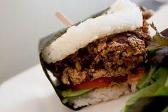 Fried Chicken Rice Burger