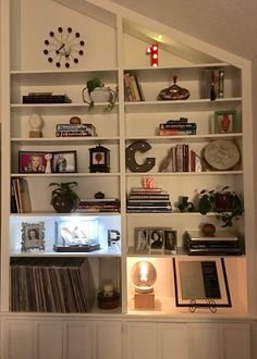 My Most Recent Decorating Project For Built In Living Room Shelving Using This To
