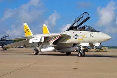 "USN Grumman F-14B Tomcat of VF-32 ""Swordsmen"" Fighter Squadron."
