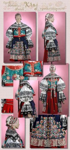 Czech Tattoo, Folk Costume, Costumes, Bohemian Blouses, Textiles, Beautiful Patterns, Traditional Outfits, Folk Art, Vintage Fashion