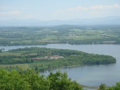 Lake Champlain, Fort Ticonderoga, the Green Mountains and Shoreham