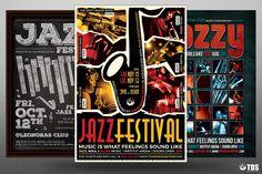 Jazz Festival Flyer Bundle V3   The Hungry JPEG