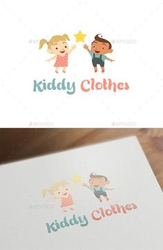 Kiddy Clothes - Baby & Kids Logo - Humans Logo Template Vector EPS, Vector AI. Download here: http://graphicriver.net/item/kiddy-clothes-baby-kids-logo/16396404?ref=yinkira