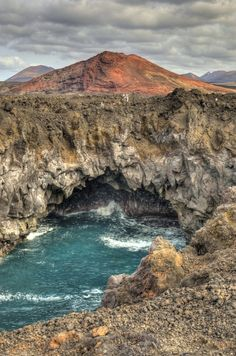 Red Mountain from Los Hervideros, Lanzarote | Canary Islands | Spain (by Jose Antonio Castellanos)