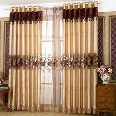 上门测量安装欧式仿真丝高精密水溶镂空绣花半遮光窗帘布窗纱 Latest Curtain Designs, Windows Decor, Swag Curtains, Window Treatments, Bedding, Table Decorations, Home Decor, Table Toppers, Home Ideas