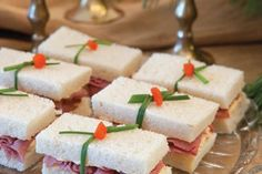 Red Pepper-Blue Cheese Roast Beef Finger Sandwiches