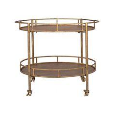 Gold and Metal Bar Cart | dotandbo.com