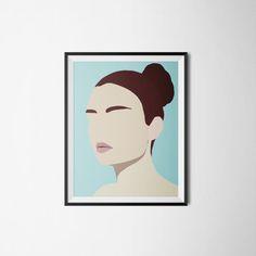 Modern Minimal Portrait Amelia by Jules Tillman by JulesTillman