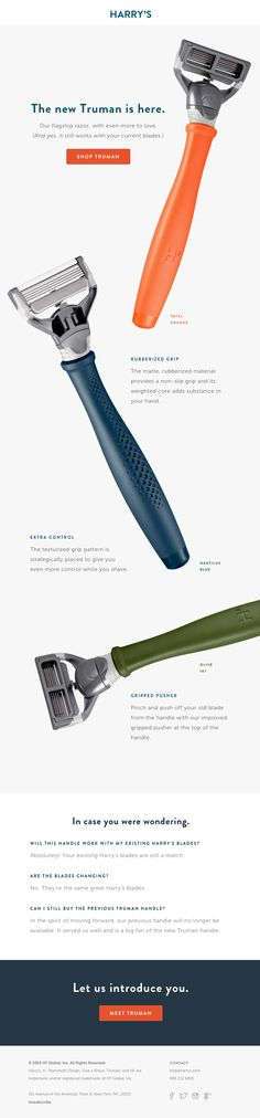 Introducing our new Truman Razor - good product highlight (CCOM, PnC, MD?)