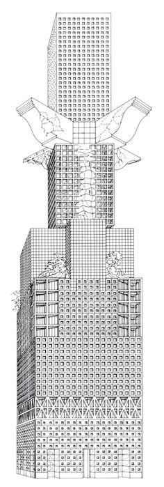 Architectural Drawings Of Skyscrapers franco purini, barbaric skyscraper, 1985 | draw | pinterest