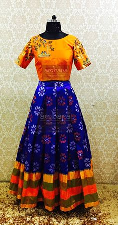 Flower Art Projects For Kids Simple Mothers 64 Ideas Long Gown Dress, Sari Dress, Anarkali Dress, Saree Gown, Frock Patterns, Baby Girl Dress Patterns, Kids Blouse Designs, Sari Blouse Designs, Ikkat Dresses