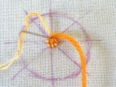 Following on from yesterday's couching tutorial is Couched Circles. You can fill a circle using spiral couching to form flowers, wheels and ...