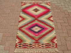 VINTAGE tapis turc Kilim tapis, tapis Kilim tissé à la main, Antique tapis Kilim, Kilim décoratif, laine naturelle 33 « X 60 » (84 x 152CM)