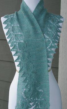 free knitting patterns, yarns and knitting supplies - Sivia Harding Heart To Heart Beaded Scarf