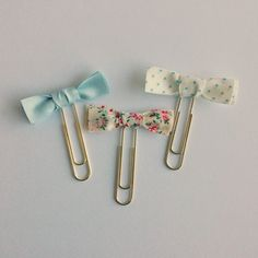 Bow Paper Clips Tutorial - Fabric Tape