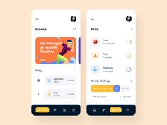 Challenges App by Afterglow on Dribbble - Design Workshop Ui Design Mobile, App Ui Design, User Interface Design, Design Design, Form Design, Flyer Design, Graphic Design, Lightroom, Photoshop