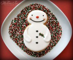 Snowman cookie from Melissa Joy