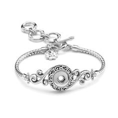 "Mini Nouveau Bracelet 7""-8.5"" Holds 12mm Mini Snaps #M0454--$39.99 Follow me on instagram at https://www.instagram.com/mvstaceyssnaps"