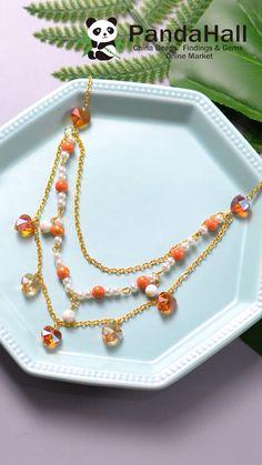 Diy Jewelry Videos, Diy Jewelry Rings, Diy Crafts Jewelry, Bracelet Crafts, Bead Jewellery, Making Jewelry For Beginners, Jewelry Making Tutorials, Diy Necklace, Diy Earrings