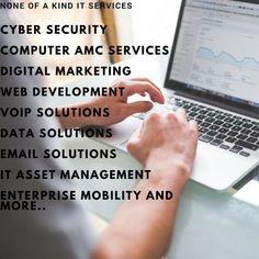 Voip Solutions, Security Consultant, Asset Management, Web Development, Cyber, Digital Marketing, Business, Store, Business Illustration