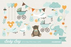 Baby Boy Clipart by cloudstreetlab on Creative Market