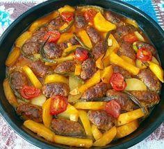Fırında İzmir Köfte Turkish Recipes, Ethnic Recipes, Iftar, Pot Roast, Paella, Pork, Sweet, Instagram, Notes