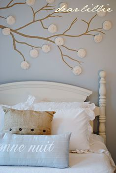 Wide Wall With Window. Paint A Tree Branch On The Wall And Add Crepe Paper  Flowers (includes Directions Making The Flowers)     Cheap Wall Decor Ideas  For ...