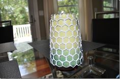 use puffy paint to stencil a glass vase, then paint Vase Ideas, Pinterest Crafts, Puffy Paint, Vases Decor, Glass Art, Stencils, Crafty, Wall, Projects