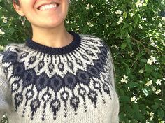 Ravelry: Telja pattern by Jennifer Steingass Sweater Knitting Patterns, Knitting Designs, Knit Patterns, Punto Fair Isle, Scandinavian Pattern, Icelandic Sweaters, Nordic Sweater, I Cord, Knit In The Round