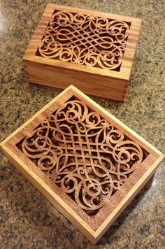 Decorative keepsake box with intricate fretwork on top by iWood4U